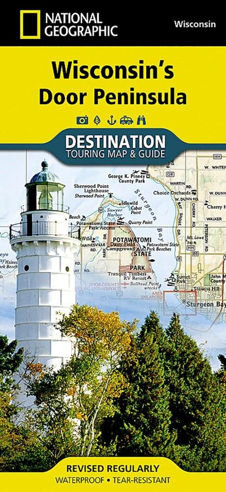 National Geographic Wisconsin's Door Peninsula Destination Map