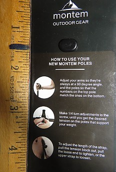 montem trekking pole instructions