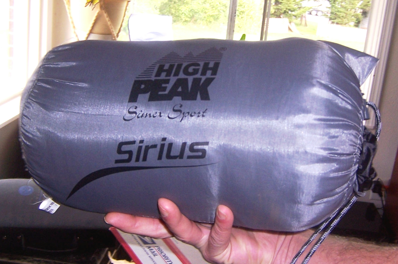 photo: High Peak Sirius warm weather synthetic sleeping bag
