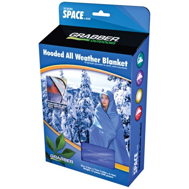 Space All Weather Blanket with Hood