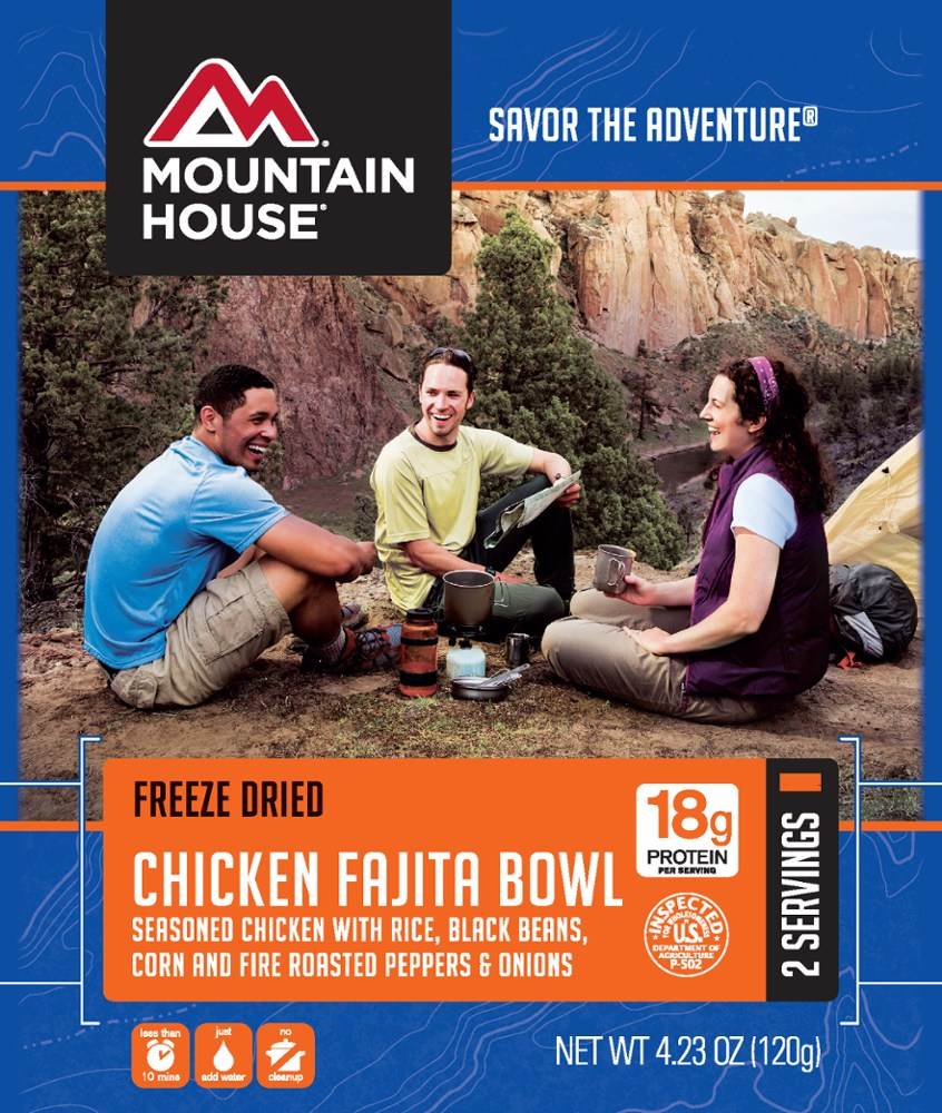 photo: Mountain House Chicken Fajita Bowl meat entrée
