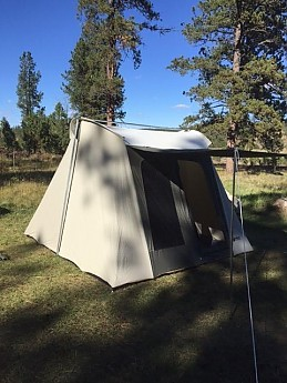 10x10 Flex-Bow Canvas Tent Deluxe