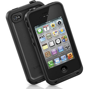 photo of a LifeProof waterproof hard case