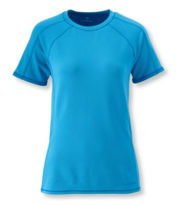 L.L.Bean Power Dry Stretch Base Layer, Midweight Short-Sleeve Crew