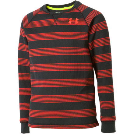 Under Armour Catalyst Stripe Waffle Crew