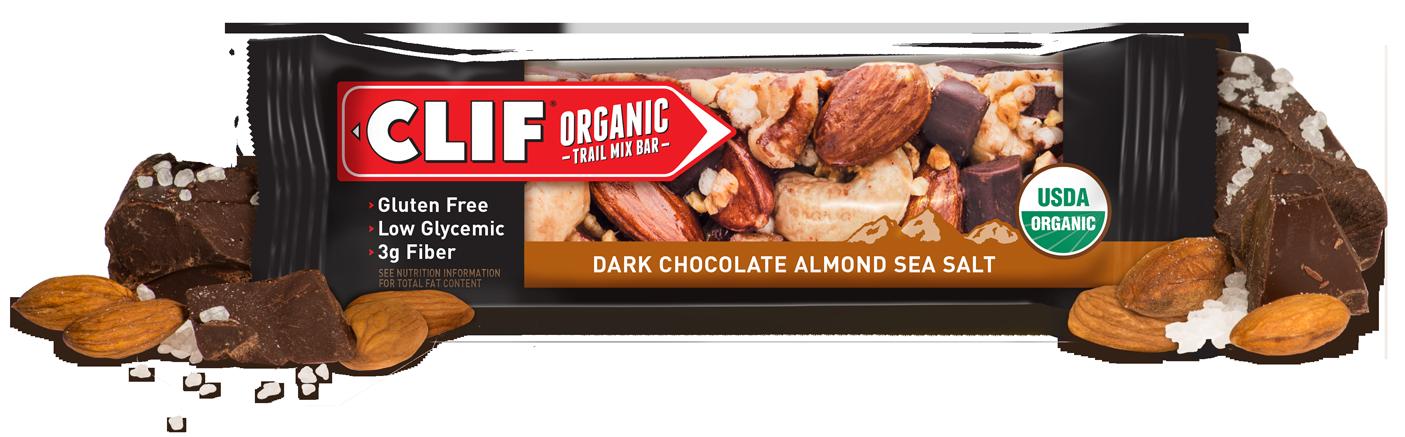 photo: Clif Dark Chocolate Almond Sea Salt Organic Trail Mix Bar nutrition bar