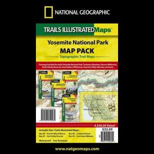 photo: National Geographic Yosemite National Park Map us pacific states paper map
