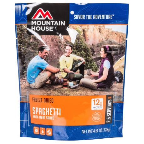 photo: Mountain House Spaghetti with Meat Sauce meat entrée