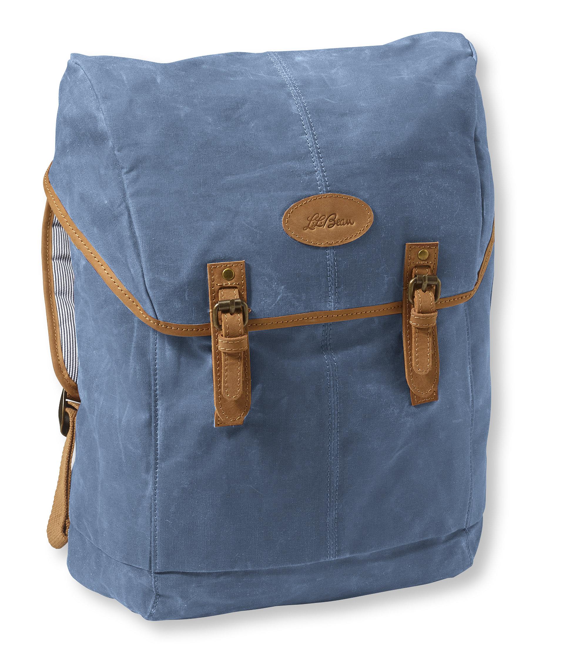 L.L.Bean Mountain Town Waxed Canvas Backpack