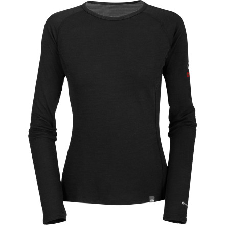 photo: The North Face Women's Warm Merino Crew base layer top