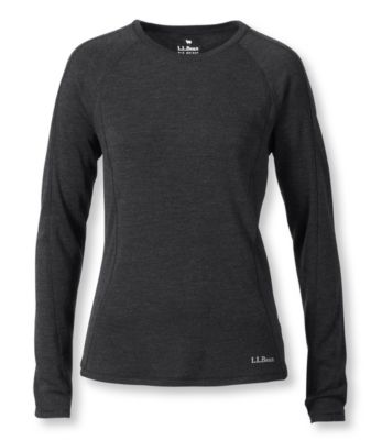 L.L.Bean Cresta Wool Midweight Base Layer, Crew