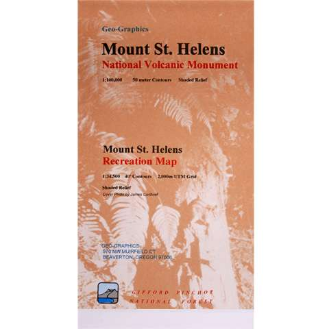 Geo-Graphics Mount St. Helens Recreation Map