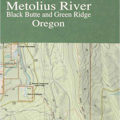 Geo-Graphics Metolius River Map
