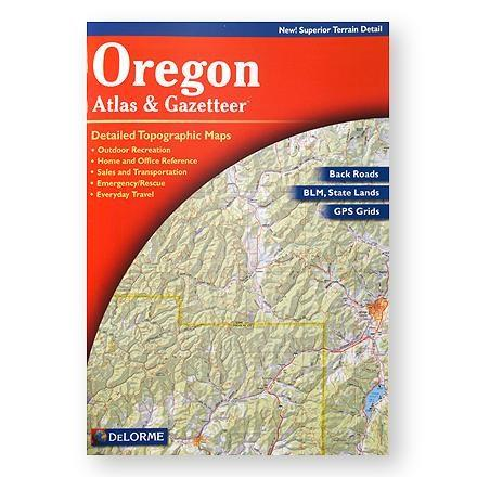 photo: DeLorme Oregon Atlas and Gazateer us pacific states paper map