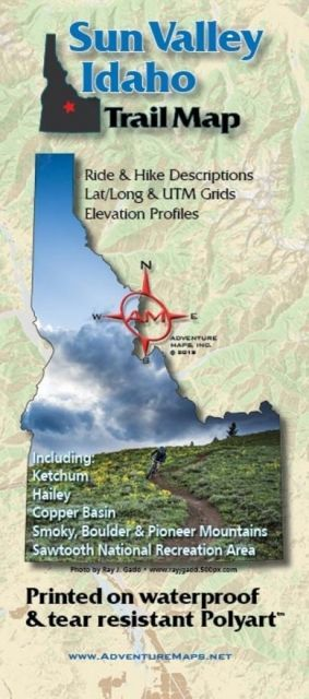 photo: Adventure Maps Sun Valley Trail Map us mountain states paper map