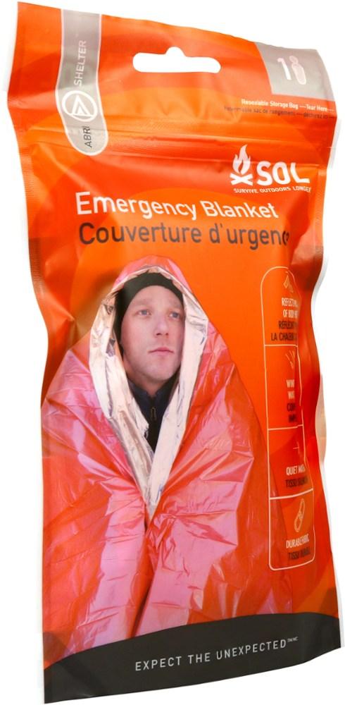 photo: SOL Heatsheets Emergency Blanket emergency shelter