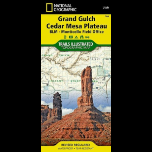 photo: National Geographic Grand Gulch Plateau Map us mountain states paper map