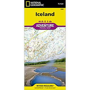National Geographic Iceland Adventure Map