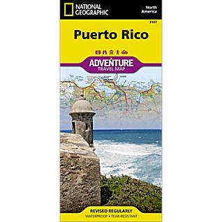 National Geographic Puerto Rico Adventure Map