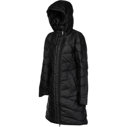 photo: Nau 3/4 Length Cocoon Trench down insulated jacket