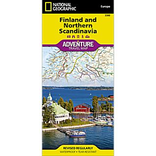 photo: National Geographic Finland and Northern Scandinavia Adventure Map international paper map