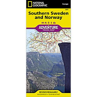 National Geographic Southern Norway and Sweden Adventure Map