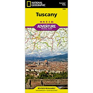 National Geographic Tuscany Adventure Map