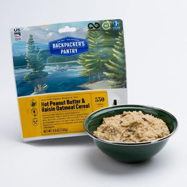 Backpacker's Pantry Hot Peanut Butter & Raisin Oatmeal Cereal