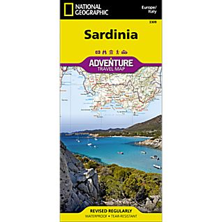 National Geographic Sardinia Adventure Map