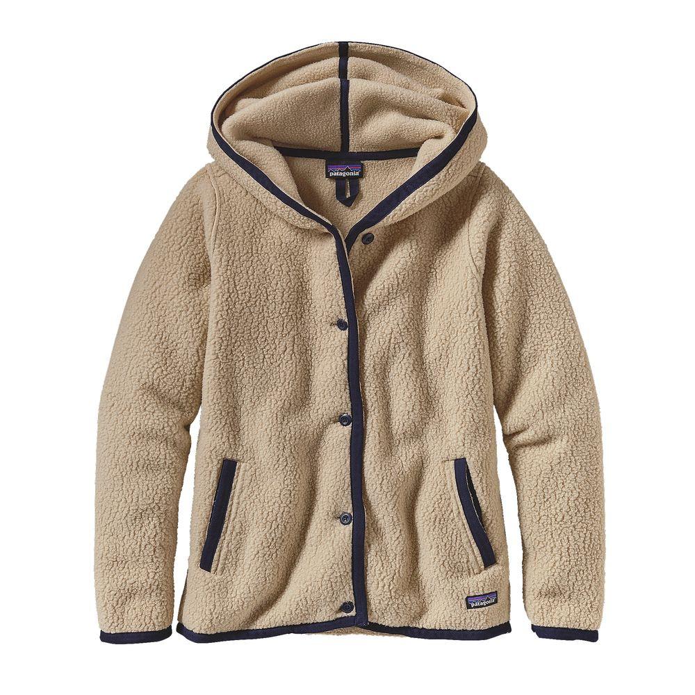photo: Patagonia Shearling Fleece Hooded Cardigan fleece jacket