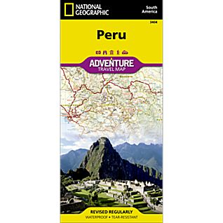 National Geographic Peru Adventure Map