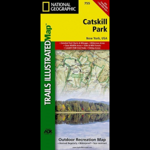 National Geographic Catskill Park Trail Map