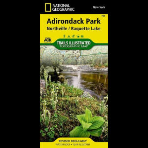 National Geographic Northville/Raquette Lake Map - Adirondack National Park