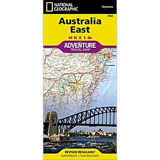photo: National Geographic Australia East Adventure Map international paper map