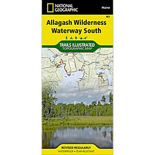 photo: National Geographic Allagash Wilderness Waterway South Trail Map us northeast paper map
