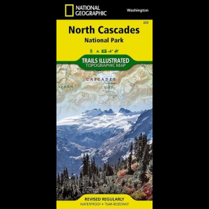 National Geographic North Cascades National Park Map