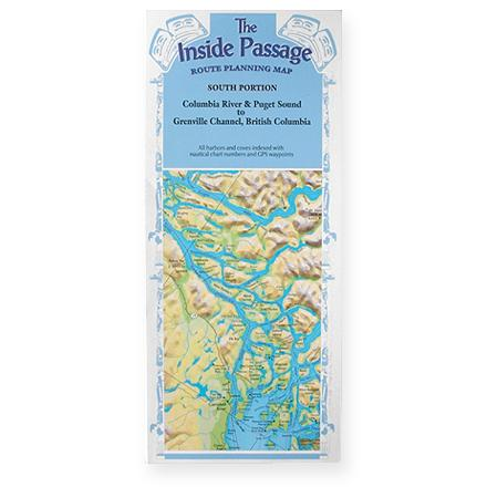 Fine Edge The Inside Passage Route Planning Map - Southern Portion