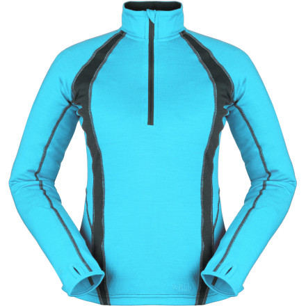 photo: Rab Women's MeCo 250 Long Sleeve Zip base layer top