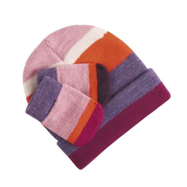 Smartwool Striped Hat and Mitten Set