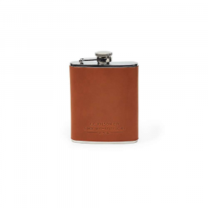 Filson Bridle Leather & Stainless Steel Hip Flask