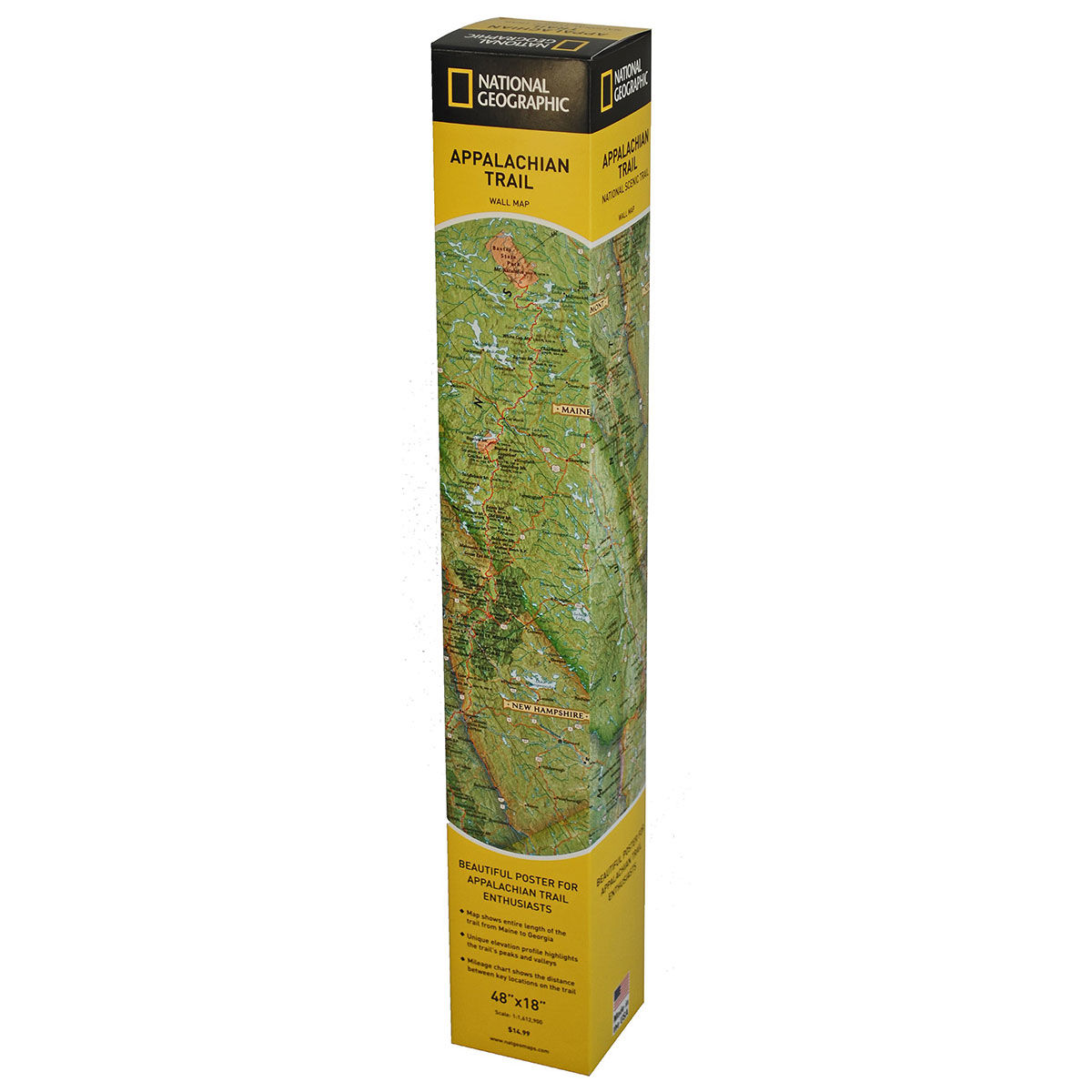 photo: National Geographic Appalachian Trail Wall Map map