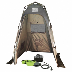 Restop Privacy Shelter with Nemo Helio Shower