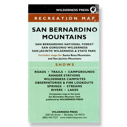 Wilderness Press San Bernardino Mountains Map