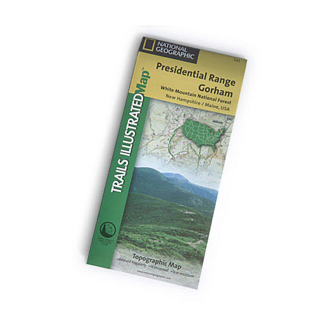 photo: National Geographic Presidential Range/Gorham Map us northeast paper map