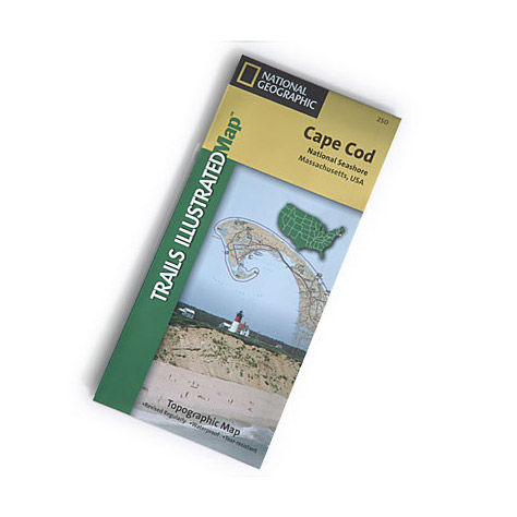 photo: National Geographic Cape Cod National Seashore Map us northeast paper map