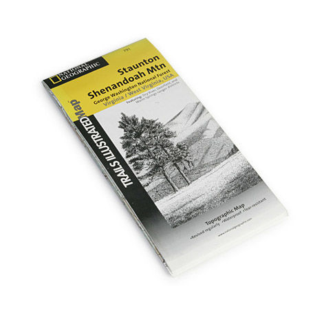 photo: National Geographic Staunton/Shenandoah Mountain Map  us south paper map