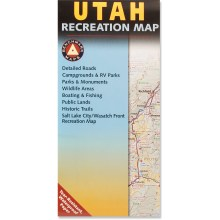 photo of a Benchmark Maps us mountain states paper map