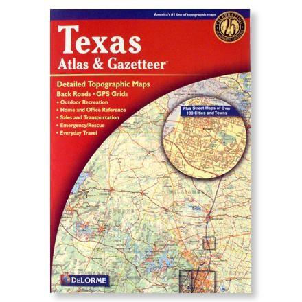 photo: DeLorme Texas Atlas and Gazetteer us south paper map