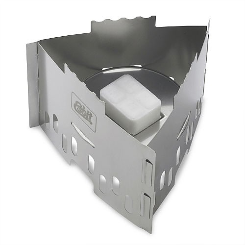 photo: Esbit Folding Stove and Pot Stand solid fuel stove