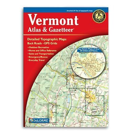 photo: DeLorme Vermont Atlas and Gazetteer us northeast paper map